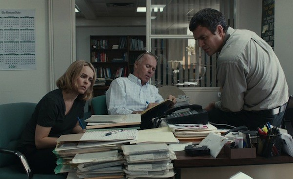 Rachel McAdams, Michael Keaton and Mark Ruffalo in Spotlight (Photo: Open Road)