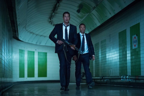 Gerard Butler and Aaron Eckhart in London Has Fallen (Photo: Gramercy)