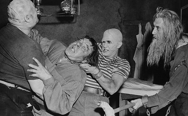 Tor Johnson, Lon Chaney Jr., George Sawaya and John Carradine in The Black Sleep (Photo: Kino & MGM)