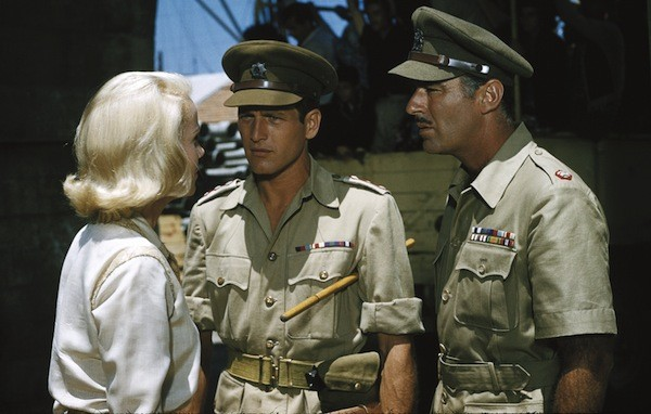 Eva Marie Saint, Paul Newman and Peter Lawford in Exodus (Photo: Twilight Time)