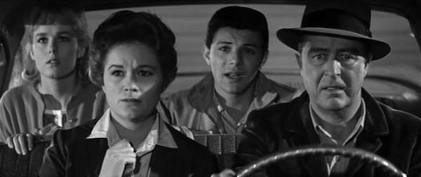 Mary Mitchel, Jean Hagen, Frankie Avalon and Ray Milland in Panic in Year Zero! (Photo: Kino)