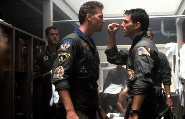 Val Kilmer and Tom Cruise in Top Gun (Photo: Paramount)