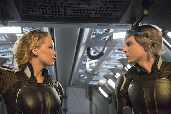 Jennifer Lawrence and Evan Peters in X-Men: Apocalypse. (Photo: Fox)