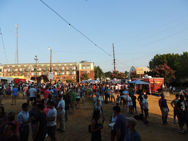 A picture from last August of one of the last South End Food Truck Fridays in the original lot. - RYAN PITKIN