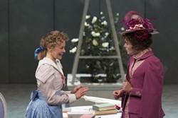 L to R: Cecily Cardew (Lorna Quinn) and Gwendolen Fairfax (Aoibihn Garrihy). (Photo by Julia Lynn Photography)