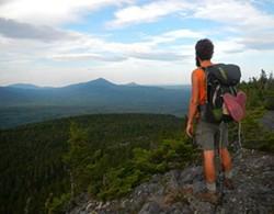 On the Appalachian Trail in 2012.