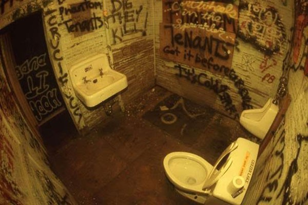 "Chris Radok's ""Bathroom at the Milestone, August 1992"""