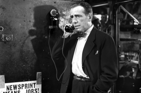 Humphrey Bogart in Deadline — U.S.A. (Photo: Kino)