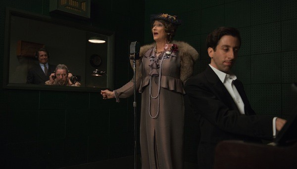 Hugh Grant (far left), Meryl Streep and Simon Helberg in Florence Foster Jenkins (Photo: Paramount)