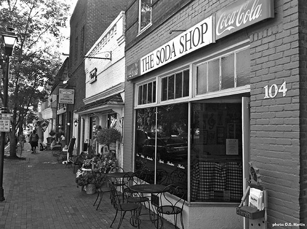 The Soda Shop in Davidson. (Photo courtesy of D.G. Martin)