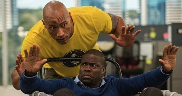 Dwayne Johnson and Kevin Hart in Central Intelligence (Photo: Warner)