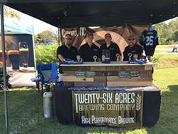 The Twenty-Six acres team at Big Elkin Brewfest.