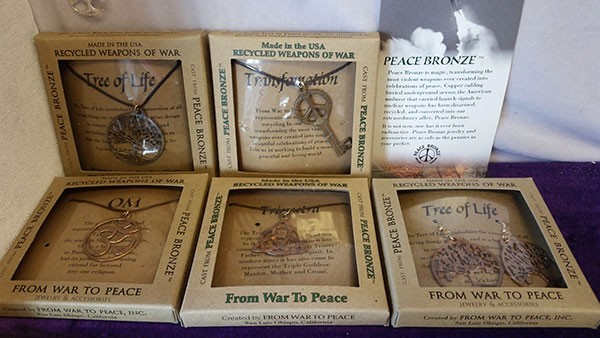 From War to Peace jewelry at The Bag Lady