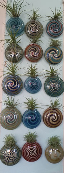 Jason Probstein's glass space vases at 32 Flavors