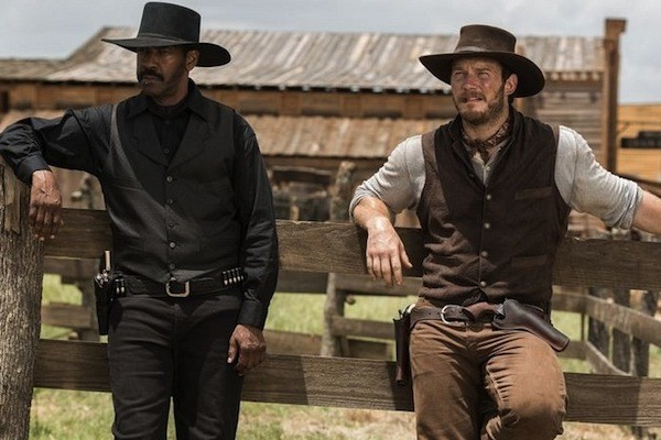 Denzel Washington and Chris Pratt in The Magnificent Seven (Photo: Columbia & MGM)