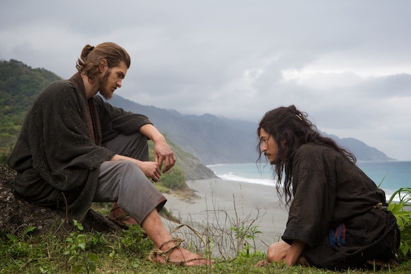 Andrew Garfield and Yosuke Kubozuka in Silence (Photo: Paramount)