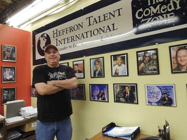 Brian Heffron in his Music Factory office. - RYAN PITKIN