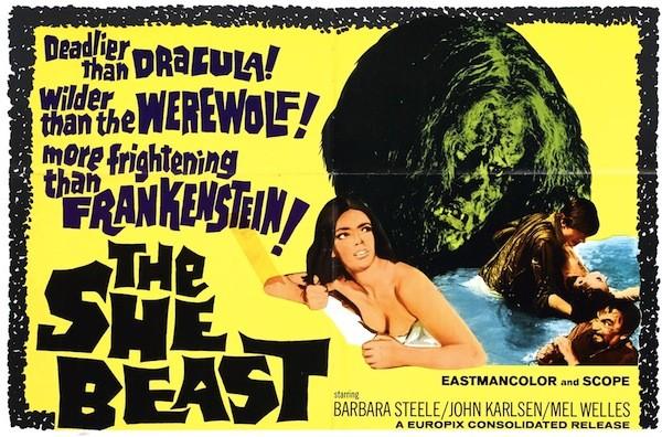 Poster art for The She-Beast, aka Revenge of the Blood Beast (Photo: Raro Video)