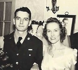 Keegan and Mary Virginia Federal on their wedding day