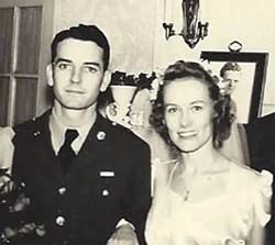 Keegan and Mary Virginia Federal on their wedding day