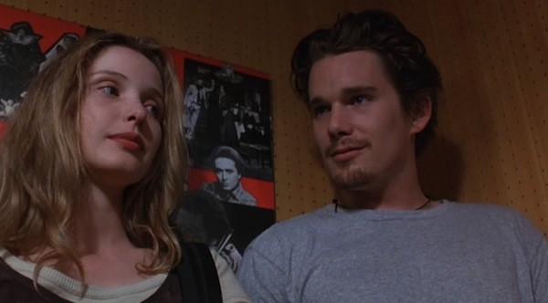 Julie Delpy and Ethan Hawke in Before Sunrise (Photo: Criterion)