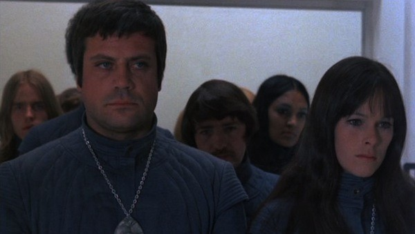 Oliver Reed and Geraldine Chaplin in Z.P.G. (Photo: Kino)