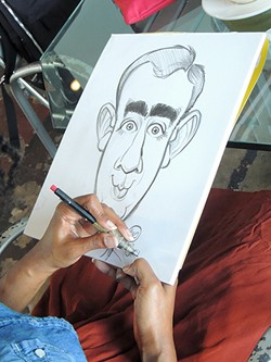 Parks' sketch of the author. - RYAN PITKIN