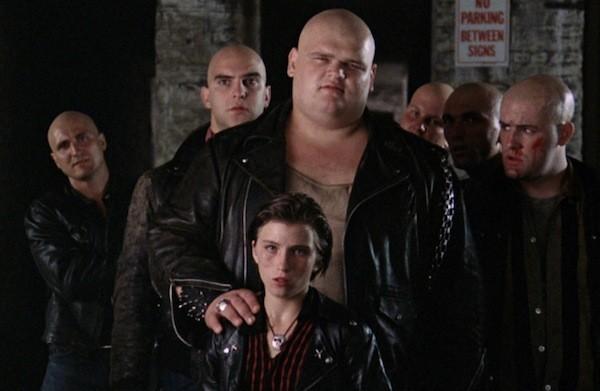 Terror (Erland van Lidth), Pee-Wee (Linda Manz) and the Fordham Baldies in The Wanderers (Photo: Kino)