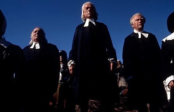 Paul Scofield (center) in The Crucible (Photo: Kino)