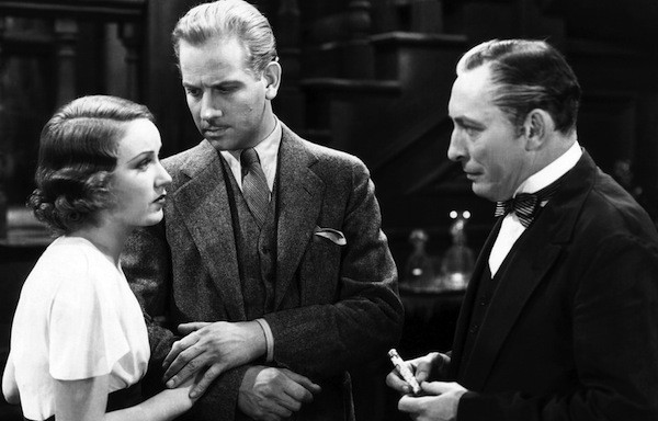 Fay Wray, Melvyn Douglas and Lionel Atwill in The Vampire Bat (Photo: The Film Detective)