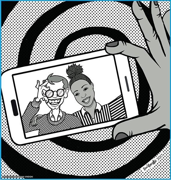 Illustration of Parker and Aerin by Dana Vindigni.