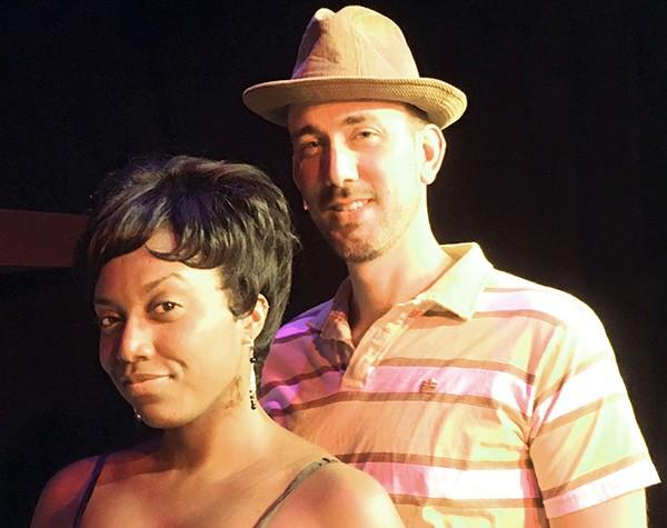 Dani Burke as Felicia Farrell and Joe McCourt as Huey Calhoun.
