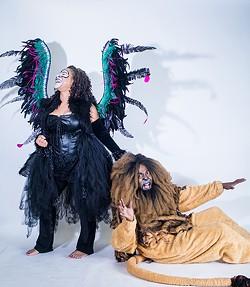 "Melody Williams as Damneesha (left) with Tony Massey as Lion. Photo by Josh ""J Sweat"" Nwakerendu."