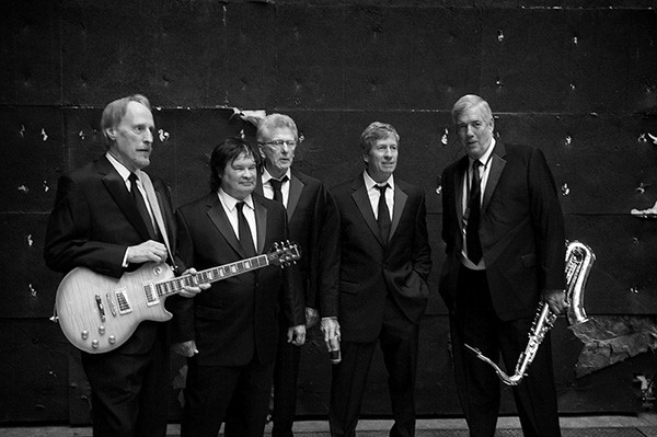 The Sonics original reunited lineup including Larry Parypa (far left), Gerry Roslie (center) and Lind (far right)