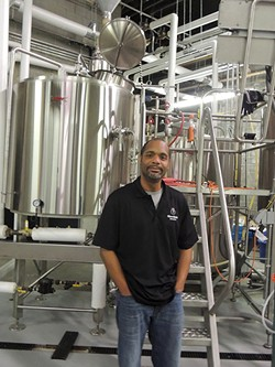 Tabu Terrell in his brewery. Photo by Ryan Pitkin.