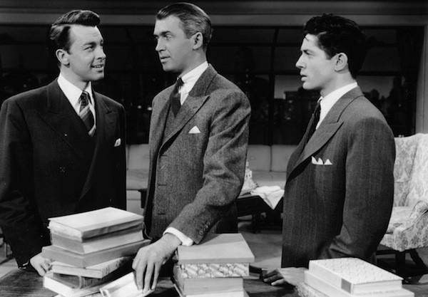 John Dall, James Stewart and Farley Granger in Rope (Photo: Warner)