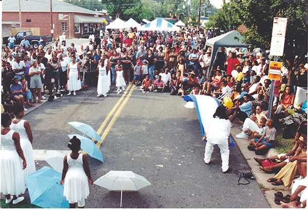 A shot from one of the first local Juneteenth Festivals.