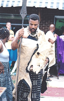 A shot form the 1998 Juneteenth Festival.