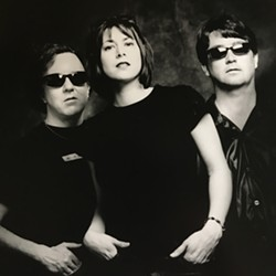 Shalini, the band, circa 2000 (from left): Mitch Easter, Shalini, Eric Marshall.
