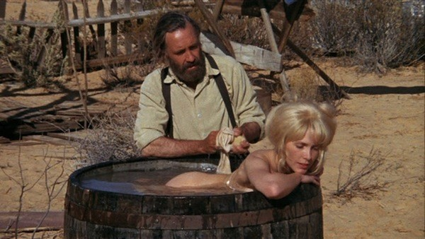 Jason Robards and Stella Stevens in The Ballad of Cable Hogue (Photo: Warner)
