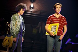 Abby Corrigan (right) in Fun Home. (Photo by Joan Marcus)