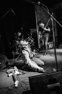 Hectoring live at CMJ Music Fest. (Photo by David Burlap)