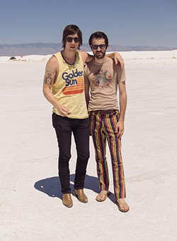 Glade and Olson travel back to the '70s -- or '60s, or wherever. (Photo courtesy of Shadowgraphs)