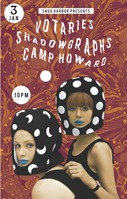 Glade designs Shadowgraphs' posters with help from Olson. (Courtesy of Shadowgraphs)