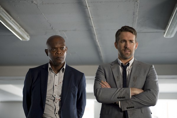 Samuel L. Jackson and Ryan Reynolds in The Hitman's Bodyguard (Photo: Lionsgate)