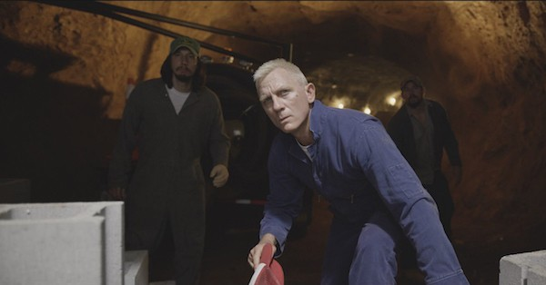 Adam Driver, Daniel Craig and Channing Tatum in Logan Lucky (Photo: Bleecker Street)