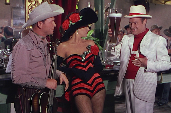 Roy Rogers, Jane Russell and Bob Hope in Son of Paleface (Photo: Kino)