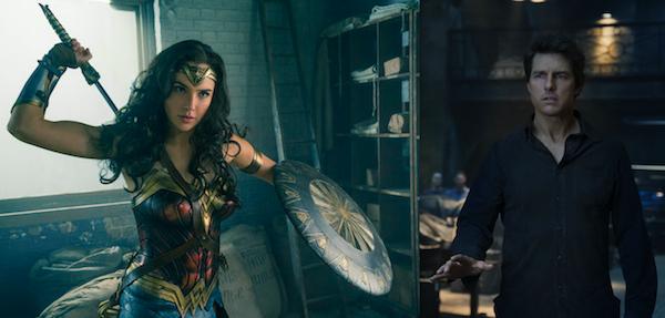 BEST & WORST OF SUMMER: Gal Gadot as Wonder Woman cuts Tom Cruise in The Mummy down to size. (Photos: WW: Warner; Mummy: Universal)