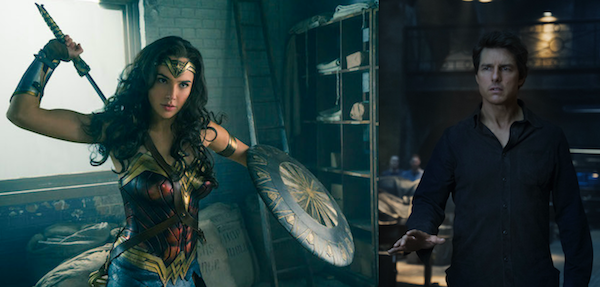 BEST & WORST OF SUMMER: Gal Gadot as Wonder Woman cuts Tom Cruise in The Mummy down to size. (Photos: WW: Warner; Mummy: Universal)