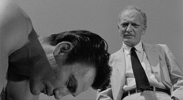 Jack Palance and Everett Sloane in The Big Knife (Photo: Arrow & MGM)
